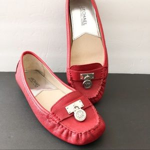 Michael Kors red leather driving shoe